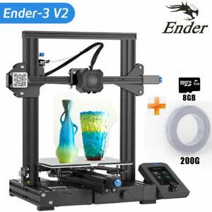 "Creality Ender-3 V2 3D Drucker Printer Größerem Druckbereich 3,5"" LCD PLA 8GB TF"