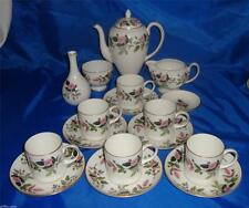 Wedgwood HATHAWAY ROSE Coffee Set With Coffee Pot Unused