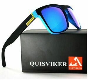 Men Women UV400 Polarized Sunglasses Retro Square Sport Driving Cycling Fishing