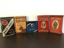 Vintage empty pocket tobacco tin lot-antique-advertising