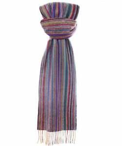 Paul Smith Men's Scarf - BNWT Cashmere Signature Multi Stripe  Scarf RRP:£150