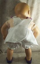 "Doll Clothes Baby Made 2 Fit American Girl 15"" inch Sunsuit Set 2pc Lilac Eyelet"
