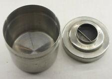 "3"" Film Developing Tank Stainless Steel Nikor USA 3 3/8"" Diameter Lid USED E18B"