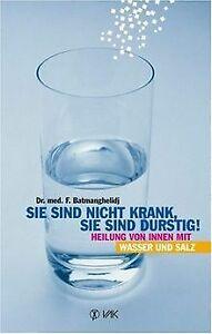 Sie sind nicht krank, sie sind durstig: Heilung von inne... | Buch | Zustand gut