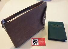 Pilots leather log book cover- Aviators journal Crazy horse water proof leather