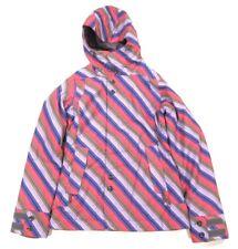$175 Womens Burton Snowboard Jet Set Jacket Cosmo Tie Stripe sz S