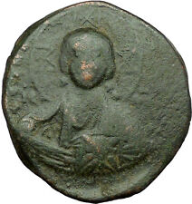 JESUS CHRIST Class A2 Anonymous Ancient 1028AD Byzantine Follis Coin   i34299