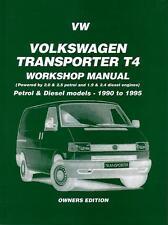 NEW WORKSHOP REPAIR MANUAL VW KOMBI VAN TRANSPORTER T4