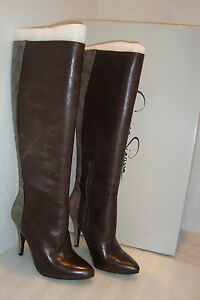 Jessica Simpson Womens Smoky Taupe Charcoal Galore Suede Boots 5.5 Med Display