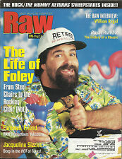 WWF RAW Wrestling Magazine January 2001 Mick Foley w/Jacqueline Poster WWE