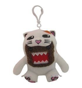 """Domo Cat Costume Small 4"""" Plush Toy Keychain Clip-On"""
