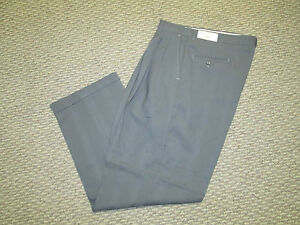 Mens Unique Gray Dress Cuffed Pants 32 34 36 38  X 32 Style #3 NEW