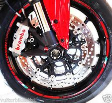 adesivi ruote moto compatibili per ducati multistrada 1200 profili ducati corse