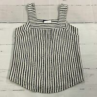 Lucky Brand Navy White Striped Tank Top Shirt Blouse Women's Size Medium