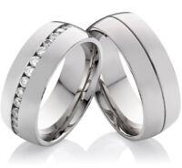 Energetix Edelstahl Damen Magnet-Ring mit umlaufend gefassten Zirkonia 2950
