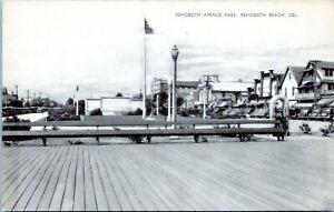 Rehoboth Beach Postcard 1940s Rehoboth Avenue Park Boardwalk Mayrose LJ