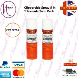 2 X Clippercide Spray - For Hair Clippers 5 in 1 Formula (15 Oz.) 25% extra free
