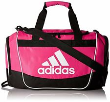NEW adidas Defender II Small Duffel Bag, One small 100% Polyester, Shock Pink