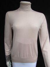 Akris Women Blush Beige Cashmere Silk Long Sleeve Turtleneck Sweater Knit Top 10