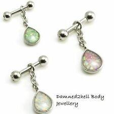 Ear Opal Bar/Barbell Body Piercing Jewellery