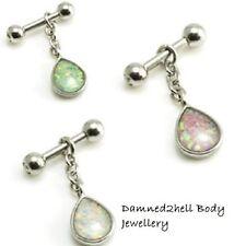 Helix Opal Surgical Steel Body Piercing Jewellery