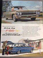 1961 Oldsmobile F-85 Original Advertisement 11x14 Print Art Car Ad LG64