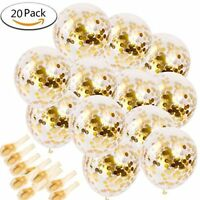 20pcs Golden Paper Confetti Dots Ballons Party Wedding Anniversary Decoration