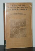 Lionel Robbins - An Essay on Nature & Significance of Economic Science - 1st 1st
