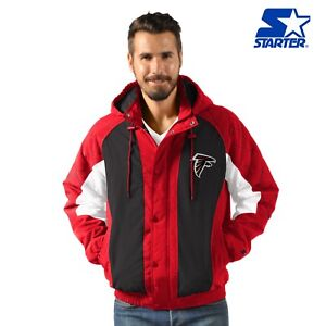 Atlanta Falcons Starter Heavy Hitter Full Snap Hooded Jacket