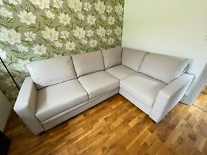 Hygena Seattle Right Hand Corner Double Sofa Bed, new, only used once