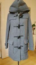 Grey Wool Hooded Men Heavy Weight Duffle coat Size XS