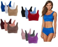 $72 Rhonda Shear 3 Pack Seamless Lace Overlay Bra 492651 AUTUMN CLEARANCE $17