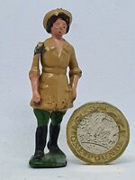 Britains 54mm hollow-cast lead land girl (535)