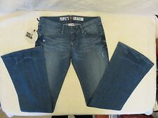 People's Liberation Size 27 Blue Distressed Stretch Jeans 99% Cotton 1% Spandex