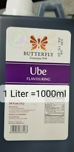 Butterfly Ube Purple Yam Flavoring Extract Original Quality = 1 Liter/33.8 oz.