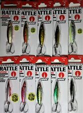 "VMC Rattle Spoon 1 3//8/"" 3//8 oz RTS38-SH Shiner Ice Fishing Lure"
