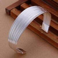 NEW beautiful Fashion silver charm Women pretty chain bangle Bracelet jewelryB23