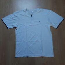 Herren Männer T Shirt von Bruno Banani Größe M 48/50 in Weis mit Knöpfen