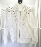 Vintage 80s/90s Rio Inc White Studded Jacket Womens Size Small