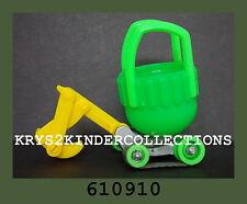 Jouet kinder capsule tracto-pelle vert  610910 Allemagne 2003