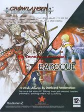 "Growlanser / Baroque ""Playstation 2"" 2008 Magazine Advert #4554"