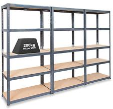 More details for 3 x storalex® 600mm deep garage shelving / warehouse racking units 200kg udl