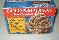 #7658 RARE Dolly Madison Ice Cream BOX ONLY Limited Edition Mississippi Mud Pie