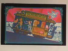 San Francisco Trolley Blacklight Poster Pin-up Print Acid Land Double Sided UV
