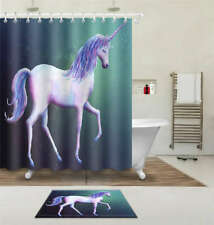 Dreamy Horse Waterproof Bathroom Polyester Shower Curtain Liner Water Resistant