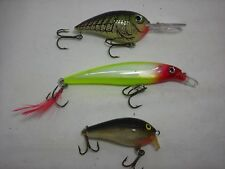 Three Used Rapala Fishing Lures