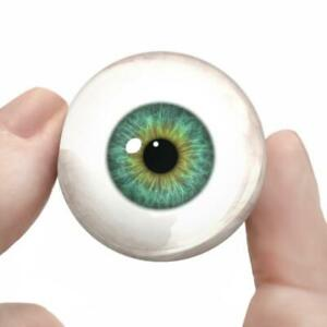 Green Glass Doll Eyes Realistic Human Taxidermy Eyeballs 35mm
