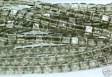 50 CzechMates 2-Hole Tile Glass Beads Black Diamond 6mm