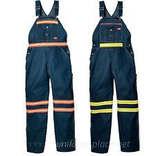 Dickies BIB OVERALLS Indigo Blue Orange / Yellow High Visibility Denim Bib pants