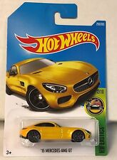 HOT WHEELS '15 MERCEDES-AMG GT YELLOW #256/365 DIECAST SCALE 1/64 NEW